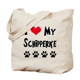 I Love My Schipperke Tote Bag