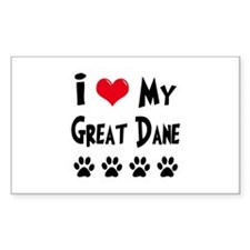 I Love My Great Dane Decal