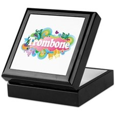 Beautiful Retro Trombone Keepsake Box