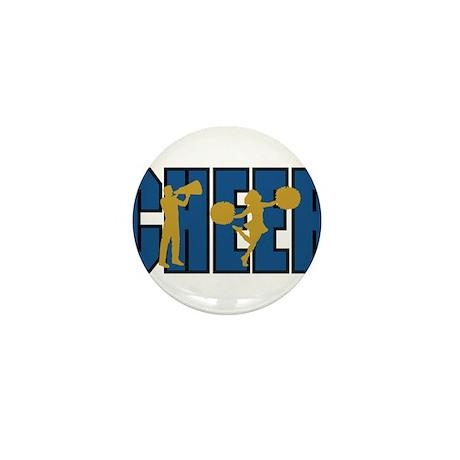 CHEER *15* {blue/gold} Mini Button (100 pack)