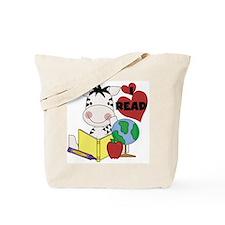 Zebra Love Reading Tote Bag