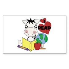 Zebra Love Reading Decal