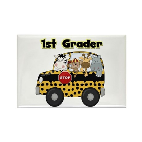 Zoo Animals 1st Grade Rectangle Magnet (100 pack)