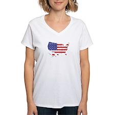 USA Flag Map Shirt