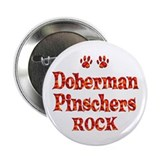"Doberman Pinscher 2.25"" Button (100 pack)"