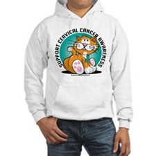 Cervical Cancer Cat Hoodie