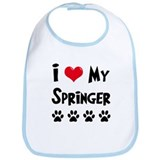 I Love My Springer Bib