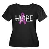 Crohn's Disease Hope Women's Plus Size Scoop Neck