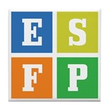 Myers-Briggs ESFP Tile Coaster