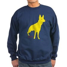 Rear Tripawd Gold GSD Sweatshirt