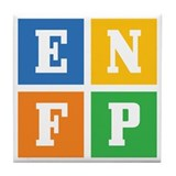 Myers-Briggs ENFP Tile Coaster