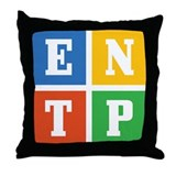 Myers-Briggs ENTP Throw Pillow