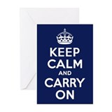 Keep calm carry on Greeting Cards (Pk of 20)