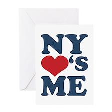NY Loves Me Greeting Card