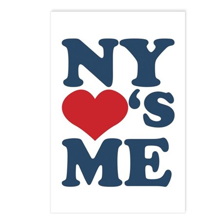 NY Loves Me Postcards (Package of 8)