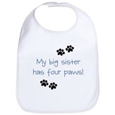 Big Sister Paws Blue Bib