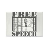 FREE SPEECH! 2.0 Rectangle Magnet