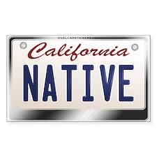"""""""NATIVE"""" California License Plate Sticke"""