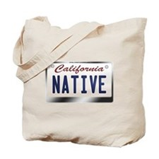 """NATIVE"" California License Plate Tote Bag"