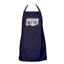 """NATIVE"" California License Plate Apron (dark)"