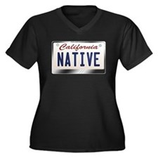 """NATIVE"" California License Plate Women's Plus Siz"