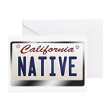 """NATIVE"" California License Plate Greeting Cards ("