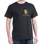 Black T-Shirt with shield & title on Pocket