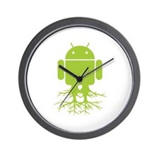 Rooted Android Wall Clock
