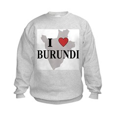 I Love Burundi Kids Sweatshirt