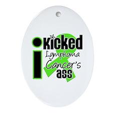 IKickedLymphomaAss Ornament (Oval)