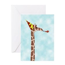 party giraffe Blank Greeting Card