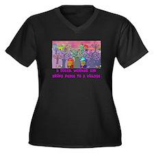 Social Worker III Women's Plus Size V-Neck Dark T-