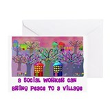 Social Worker III Greeting Card