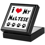I Love My Maltese Keepsake Box