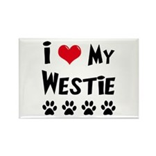 I Love My Westie Rectangle Magnet (100 pack)