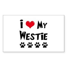 I Love My Westie Decal