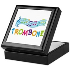 Musical Trombone Keepsake Box