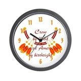 """Crow"" Wall Clock"