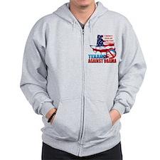 Texans Against Obama Zip Hoodie