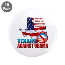 "Texans Against Obama 3.5"" Button (10 pack)"