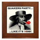 Quakers Party Framed Tile