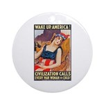 Wake Up America Poster Art Ornament (Round)