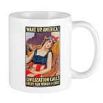 Wake Up America Poster Art Mug