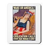 Wake Up America Poster Art Mousepad