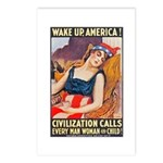 Wake Up America Poster Art Postcards (Package of 8