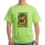 Wake Up America Poster Art Green T-Shirt
