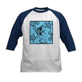 Swirly Fish Blue Tee