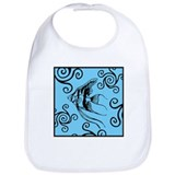 Swirly Fish Blue Bib
