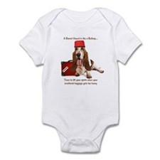 Basset Hound Bellhop Infant Bodysuit