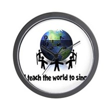 Teach the World to Sing Wall Clock
